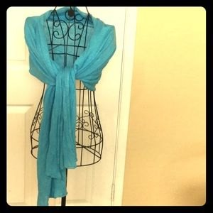Accessories - Beautiful blue scarf wrap hijab headwrap